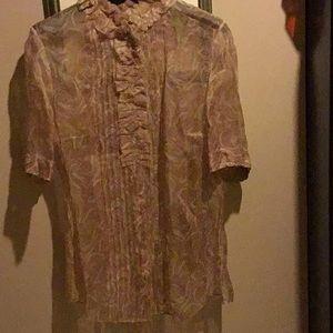 Silk blouse.